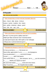 Ecrire les mots invariables au CM2 – Evaluation progressive