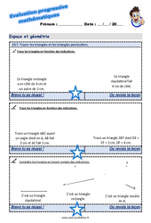 Tracer les triangles et les triangles particuliers au Cm1 – Evaluation progressive