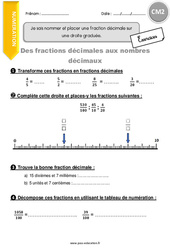 Exercice Fractions Cm2 Cycle 3