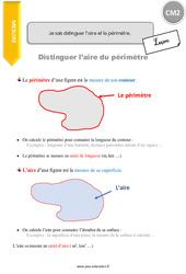 Je sais distinguer l'aire et le périmètre – CM2 – Leçon