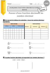 Exercice Fractions : CM2 - Cycle 3 - Pass Education