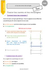 Je trace des carrés et des rectangles – CM1 – Leçon