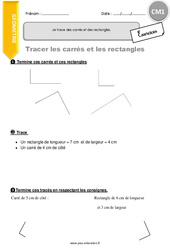 Je trace des carrés et des rectangles – CM1 – Exercices à imprimer