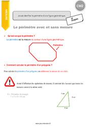 Je sais identifier le périmètre d'une figure géométrique – CM2 – Leçon
