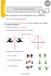 Je sais reconnaitre une situation de symétrie – CM2 – Leçon