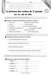 Evaluation Present De L Indicatif Cm1 Cycle 3 Bilan Et Controle Corrige