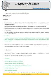 L'adjectif épithète – CM1 – Soutien scolaire – Aide aux devoirs