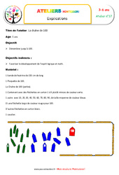 Chaîne de 100 – Combinaison des symboles et des chiffres
