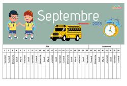 Poutre du temps – Calendrier 2019 / 2020 – Calendrier scolaire