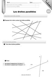 Droites parallèles – CM2 – Evaluation – Bilan
