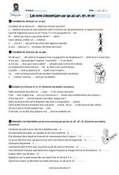 Les mots commençant par ap- ac- -af, -ef-, et of – CM2 – Exercices avec correction
