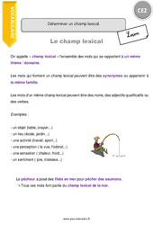 Déterminer un champ lexical. – CE2 – Leçon