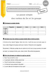 Je maîtrise les verbes du 2e et 3e groupe au passé simple de l'indicatif. – CM2 – Exercices à imprimer