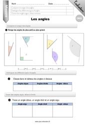 Comparer et tracer des angles – CM2 – Evaluation – Bilan