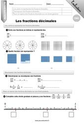 Lire, écrire et représenter les fractions décimales. – CM2 – Evaluation – Bilan