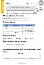 Je sais lire, écrire des nombres décimaux. – CM2 – Exercices avec correction