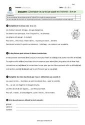 Distinguer participe passé et infinitif – CM1 – Evaluation – Bilan