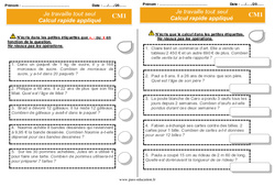 Documents d'autonomie à imprimer – CM1 – Elève en répartition