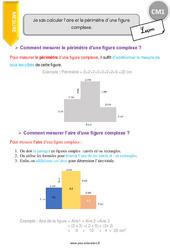 Je sais calculer l'aire et le périmètre d'une figure complexe. – CM1 – Leçon