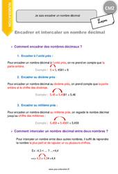 Comment encadrer un nombre décimal - CM2 - Leçon