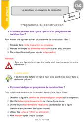Je sais tracer un programme de construction - CM2 - Leçon