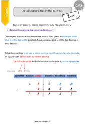 Je sais soustraire des nombres décimaux - CM2 - Leçon