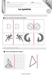 La symétrie – CM2 – Evaluation – Bilan