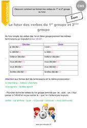 Découvrir comment se forment les verbes du 1er et 2e groupe au futur. - CM1 - Leçon