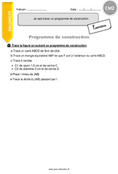 Je sais tracer un programme de construction – CM2 – Exercices avec correction