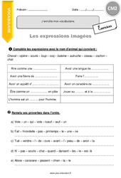 J'enrichis mon vocabulaire - CM2 - Exercices à imprimer
