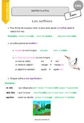 Suffixes – CM1 – Leçon