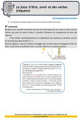 Le futur d'être, avoir et des verbes fréquents – Soutien scolaire – CM1 – Aide aux devoirs