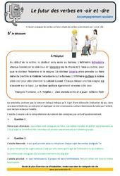Le futur des verbes en oir et dre – CM1 – Soutien scolaire – Aide aux devoirs