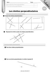 Droites perpendiculaires – Evaluation – Bilan – CM1