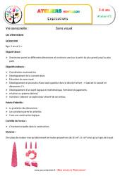 Tour rose – Vie sensorielle – Montessori – Atelier 2