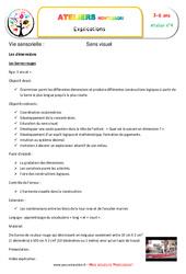 Barres rouges – Vie sensorielle – Montessori – Atelier 4