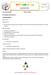 Triangles constructeurs – Vie sensorielle – Montessori – Atelier 9