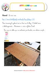 Tour rose – Vie sensorielle – Montessori – Liste des matériaux