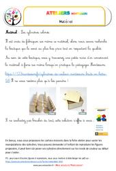 Cylindres colorés – Vie sensorielle – Liste des matériaux