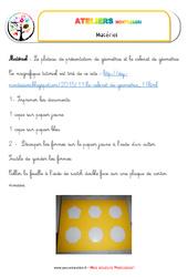 Plateau de présentation – Vie sensorielle – Liste des matériaux