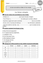 Futur simple - Exercices avec correction - CM2