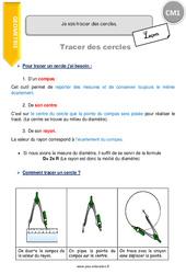 Tracer des cercles – CM1 – Leçon