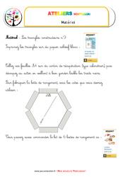 Triangles constructeurs numéro 3 – Vie sensorielle – Liste des matériaux