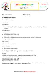 Triangles constructeurs numéro 4 – Vie sensorielle – Montessori – Atelier 12