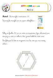 Triangles constructeurs numéro 4 – Vie sensorielle – Liste des matériaux