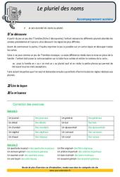 Pluriel des noms - Soutien scolaire - CM2 - Aide aux devoirs
