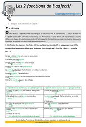 Deux fonctions de l'adjectif – CM2 – Soutien scolaire – Aide aux devoirs
