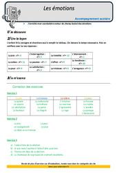 Émotions - CM2 - Soutien scolaire - Aide aux devoirs
