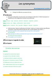 Synonymes - CM2 - Soutien scolaire - Aide aux devoirs