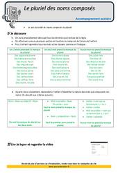 Pluriel des noms composés – CM2 – Soutien scolaire – Aide aux devoirs